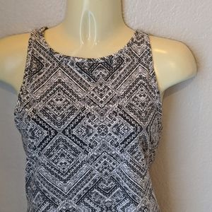 Mossimo Tribal Tank Top Black and White